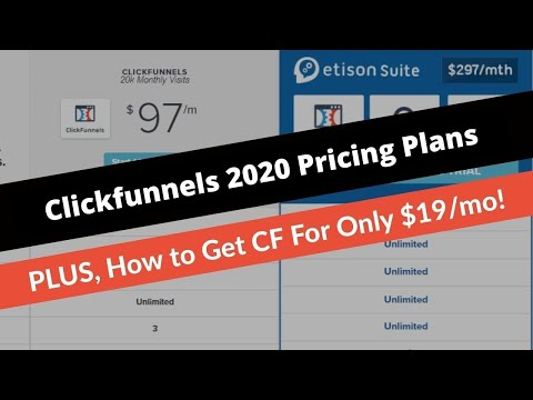 Clickfunnels Pricing 2019 [🚨New Prices & 👉 How to Get Clickfunnels for ONLY $19 Per Month❗️]