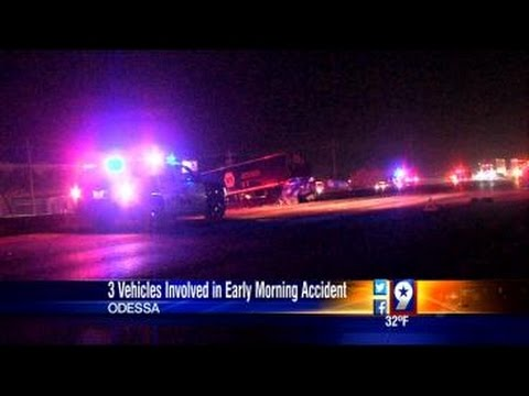 Man Hit by Cable Barrier During Accident on Interstate 20 in Odessa (3-4-15)