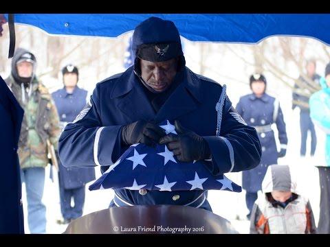 SSGT Grant Davis, US Air Force,  Military Funeral 7 April 2016
