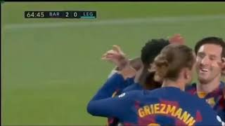 Barcelona vs leganes 2 - highlights english commentary