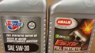 Carquest 5W-30 Synthetic VS Amalie 5W-30 Synthetic