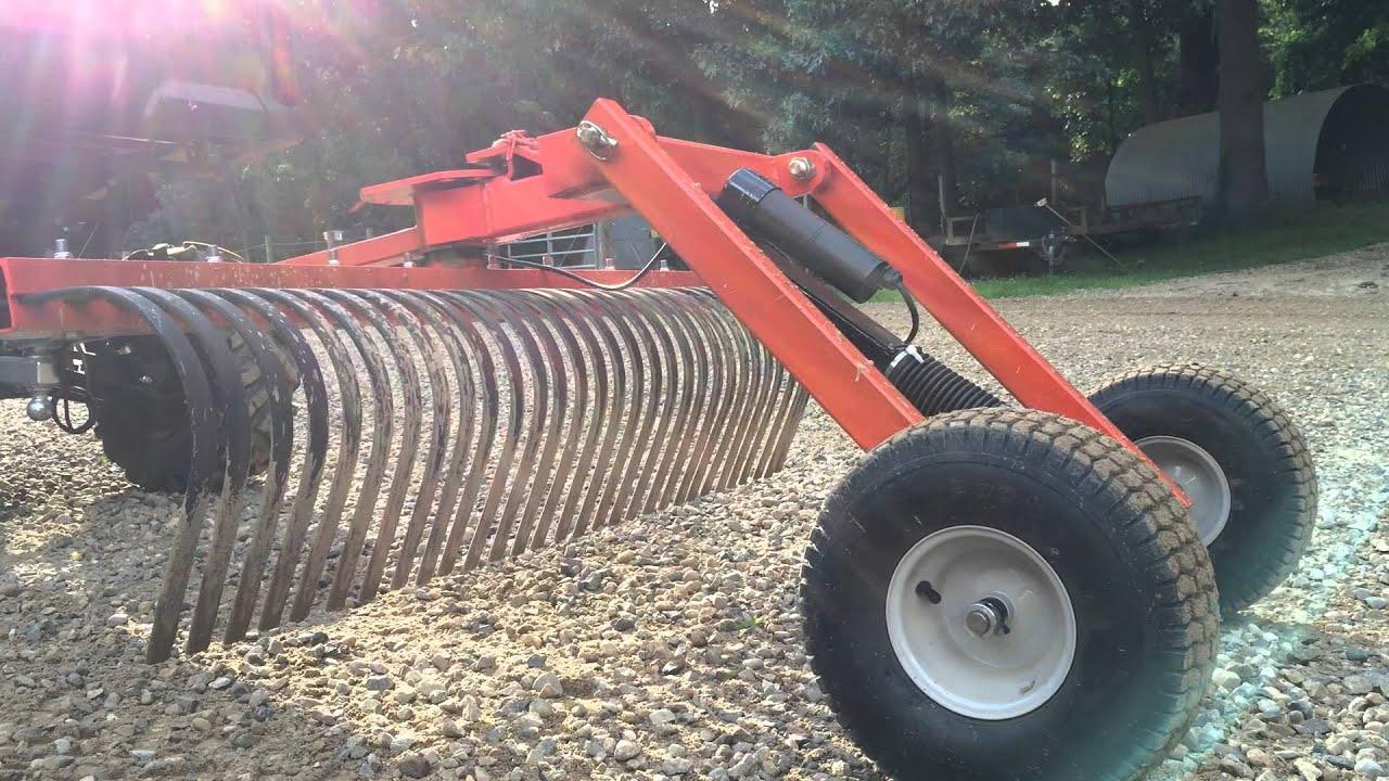 Atv utv pull type driveway drag grader landscape rake diy for Garden tools for 4 wheeler
