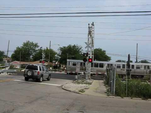 CTA Yellow Line train crossing Kostner Avenue # 2.