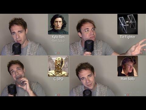 STAR WARS IMPRESSIONS! (Vader, Solo, Finn, Kylo Ren)