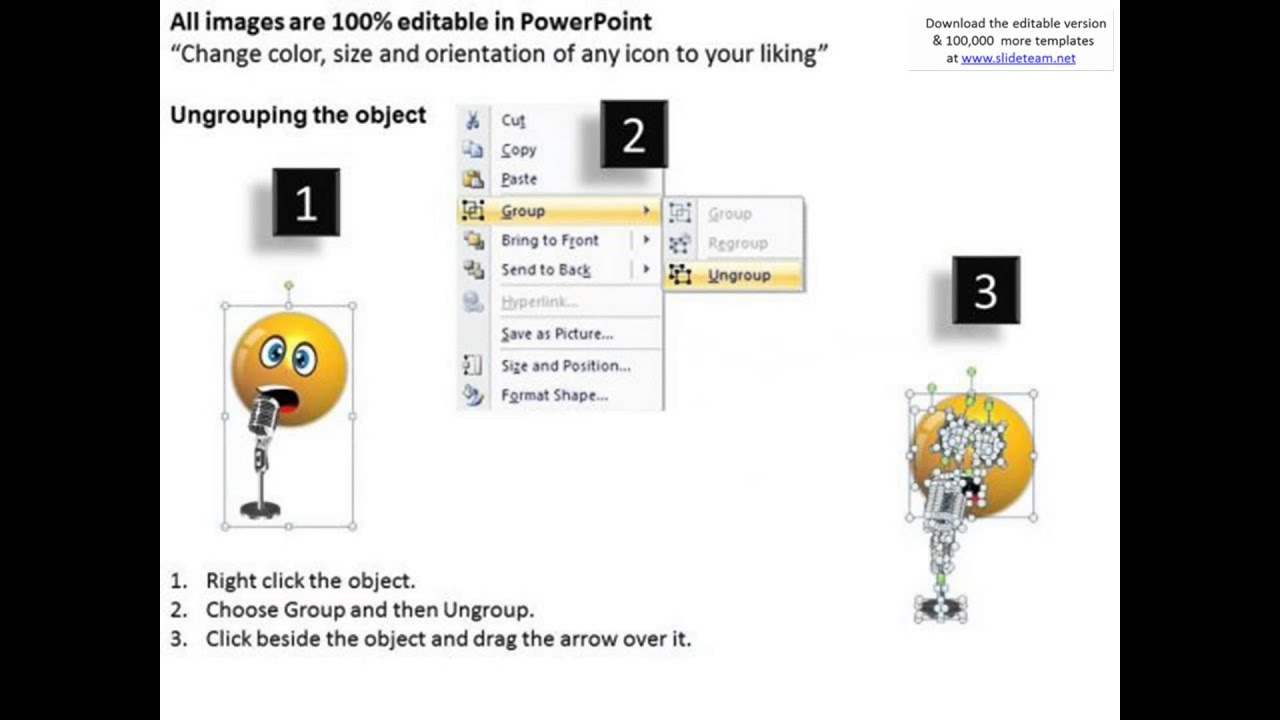 ppt singing smiley emoticon with mike project management, Modern powerpoint