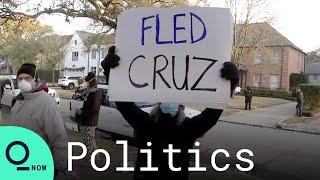 Protesters Outside Texas Sen. <b>Ted Cruz's</b> Home Demand His ...