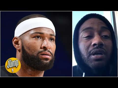 John Wall reacts to Boogie Cousins being off Rockets, talks giving aid to Texas families | The Jump