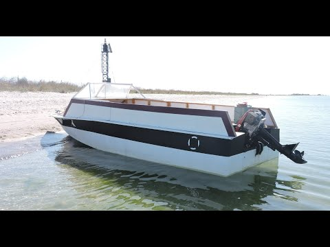 Переход на моторной лодке Николаев - Кинбурнская коса. Малый расход топлива. 12-13 л/100 км. Докатка