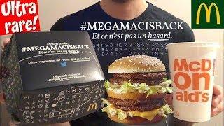 FOOD ASMR Mcdo Test MEGAMAC BIG MAC 4 STEAKS ULTRA RARE - dégustation/nourriture/mukbang - Français
