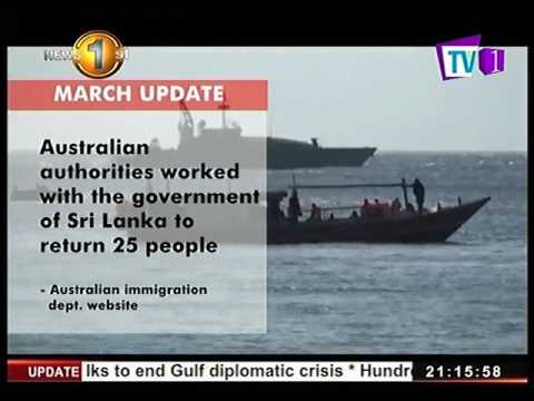 News1st: Sri Lankan asylum seekers on Christmas Island sent back home