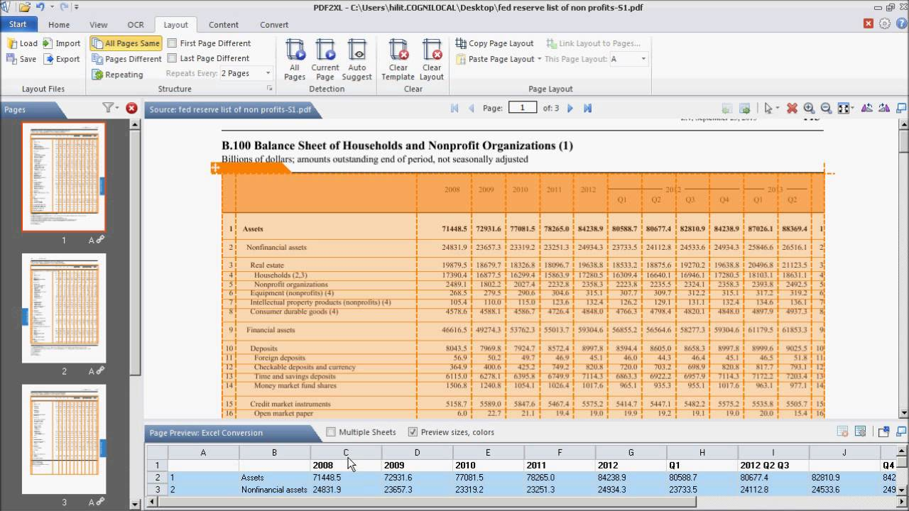 how to convert a pdf balance sheet into excel youtube