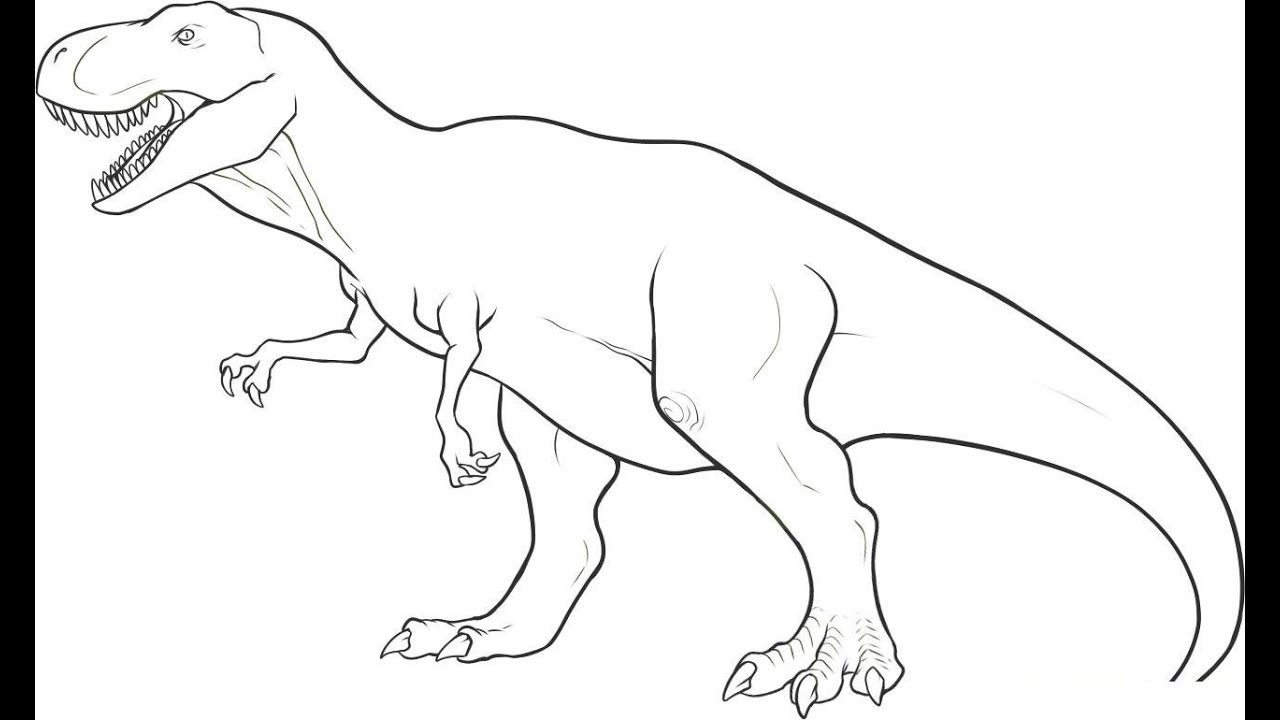 Uncategorized Drawings Of Dinosaurs how to draw dinosaur t rex in simple lines youtube