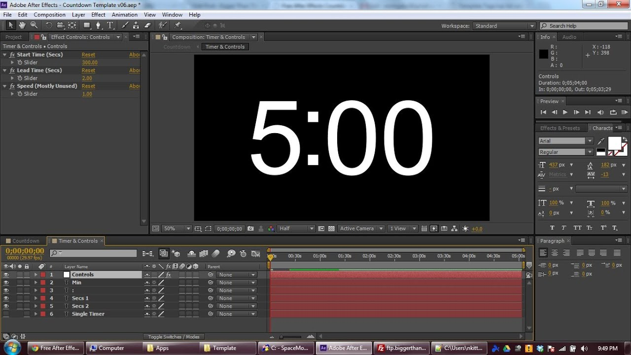 Free After Effects Countdown Template & Tutorial - YouTube