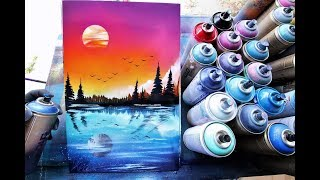 Day in Night reflection -SPRAY PAINT ART by Skech