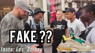 "As tu des fausses CHAUSSURES/SNEAKERS !? feat. Tonton Gibs ""BRIGADE ANTI-FAKE"" - micro trottoir"