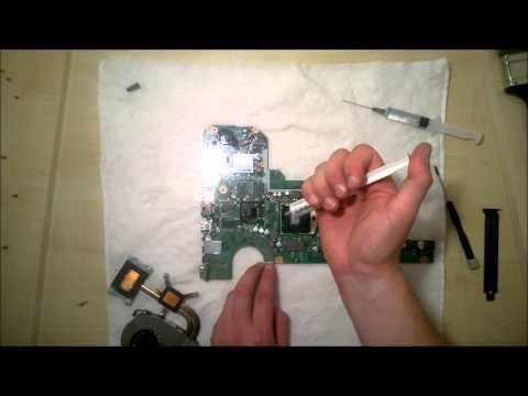 Как заменить термопасту и почистить вентилятор в ноутбуке (How To Clean The Fan In The Laptop)