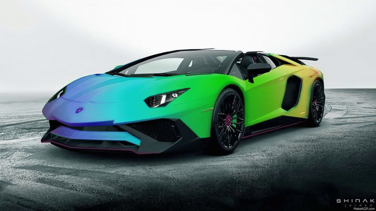 Cool Rainbow Lamborghini Youtube
