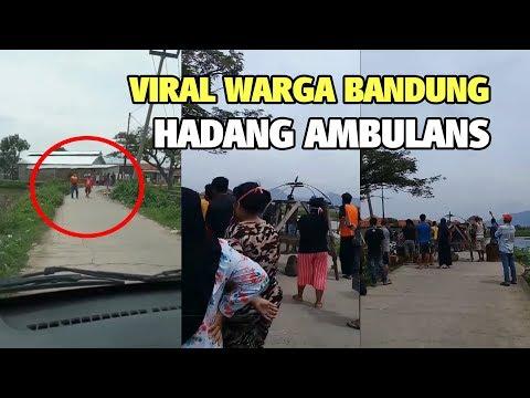 Video Viral Warga Bandung Hadang Ambulans yang Diduga Bawa Jenazah Corona