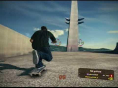 Skate 2 Super Bounce Jump Glitch (Tutorial)