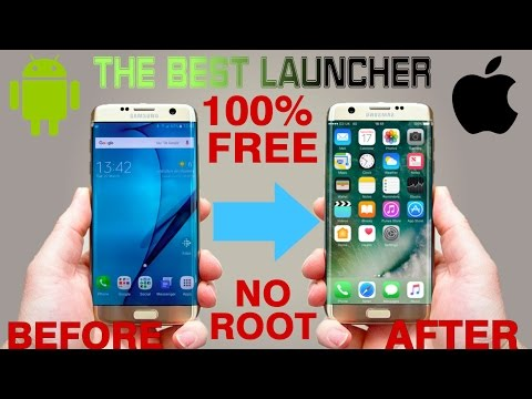 HOW TO MAKE YOUR ANDROID PHONE LOOK EXACTLY LIKE AN IPHONE FOR FREE!!! (NO ROOT) 2017 [HD]