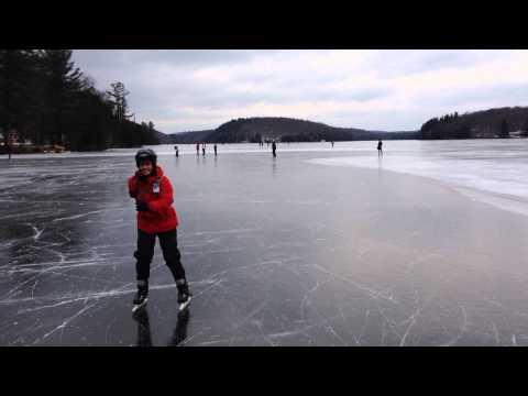 Skating at Meech Lake - New Years 2015
