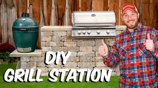 Build with Roman - How to Build a Grill Station w/ Kamado Pad