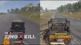 H1Z1 Vs PUBG The BEST Graphics Comparison! Arms cars map...Kotk vs PlayerUnknown