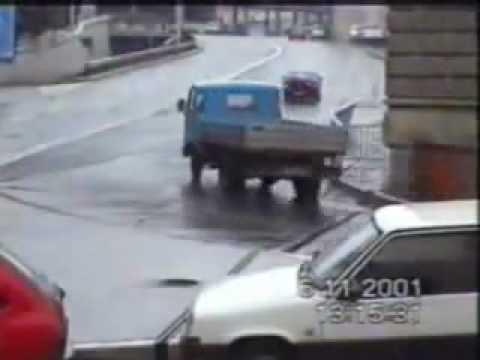 Cars Crash in Rijeka, Croatia