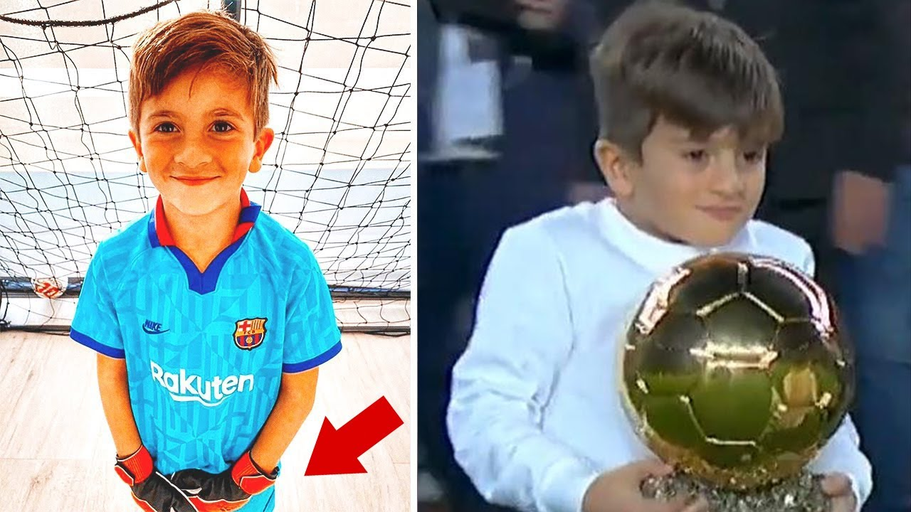 Thiago Messi WANTS TO BECOME A GOALKEEPER of Barcelona? The reaction of Messi and Ter Stegen