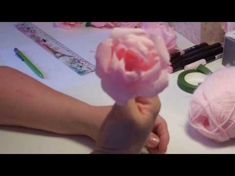 Tuto Facile Des Roses En Papier Crepon Youtube