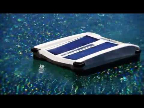 Solar Breeze Robotic Swimming Pool Surface Skimmer Youtube