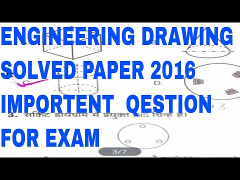 ENGINEERING DRAWING 1ST SEM SOLVED PAPER