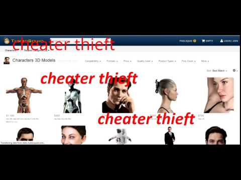 turbosquid cheater thieft - YouTube