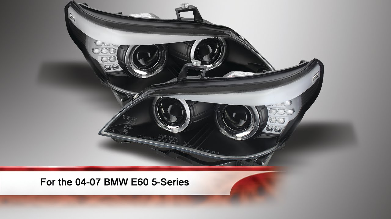 04 07 Bmw E60 5 Series Projector Headlights Youtube