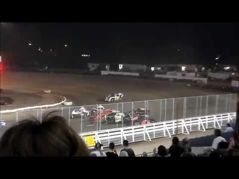 Nodak Speedway IMCA Modified A-Main Start & Big Wreck (7/4/14)