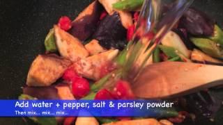 Vegan Eggplant And Okra Stir-fry