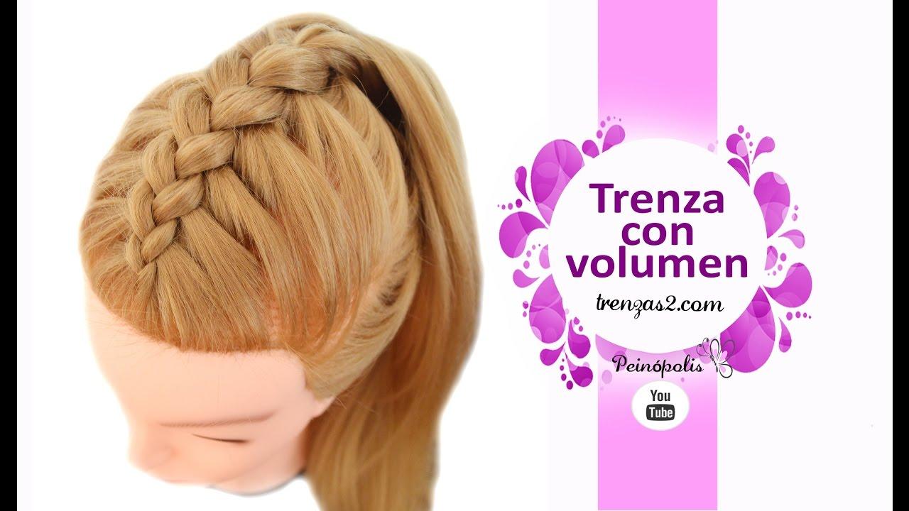 peinados faciles y rapidos coletas con trenzas con volumen para cabello largo youtube