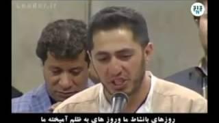 Azərbaycanlı şair İranda, Xamneyinin qarşısında AZƏRBAYCAN TÜRKCƏSİNDƏ şeir deyir.