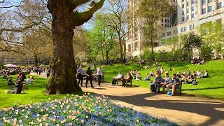 LONDON WALK | Victoria Embankment Gardens by Embankment Station | England