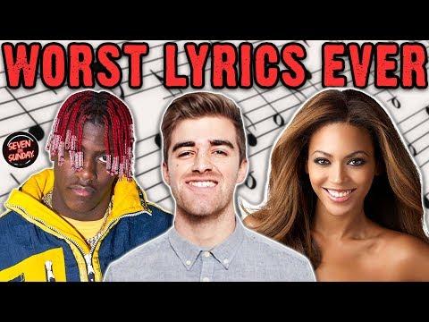 7 of the WORST Cringe Inducing Lyrics of All Time