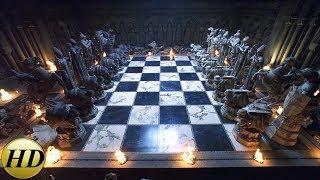 гарри, Рон и Гермиона играют в шахматы - Гарри Поттер и философский камень (2002) - Момент из фильма