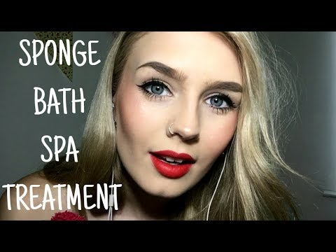 ASMR | Sponge Bath Spa Treatment Roleplay For Relaxation