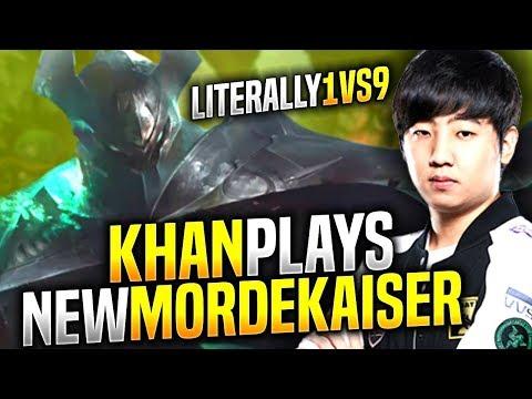 KHAN 1vs9 WITH NEW MORDEKAISER - SKT T1 Khan Plays New Mordekaiser vs Renekton Top! | T1 Khan