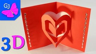 видео как сделать открытку из бумаги