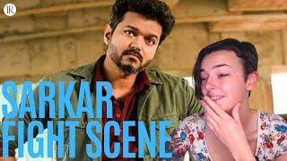Sarkar Fight Scene REACTION! - Thalapathy Vijay  | Indi Rossi