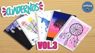 DIY | 5 Ideas Para Forrar Y Decorar Tus Cuadernos VOL. 3 | FÁCIL | PumitaNegraArt