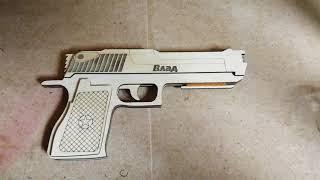 Пистолет стреляющий резинками - резинкострел, боевые испытания. Rubber gun