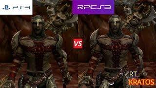 Dante's Inferno RPCS3 VS PS3 GRAPHICS COMPARISON. PS3 VS PC.
