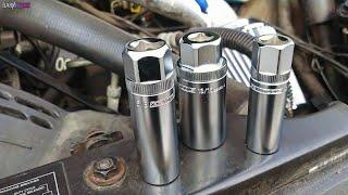 "OEMTOOLS 22891 3//8 Drive Magnetic Spark Plug Socket Set with 5//8/"" 9//16/"" 13//..."