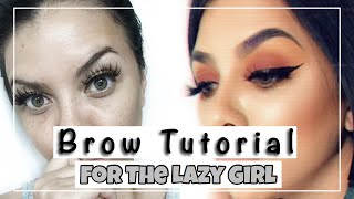 EASY+LAZY GIRL BROW TUTORIAL | beauty |Hillary Sanderson thumbnail